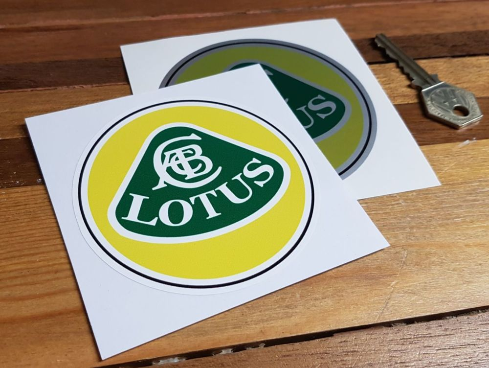 Lotus Coloured with Black Line Circular Stickers. 3.5