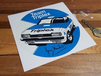 Team Triplex Gerry Marshall signature Capri Sticker 6""