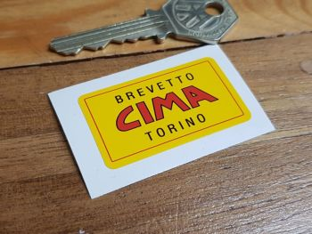 Cima Brevetto Tornio Jack Sticker 1.75""