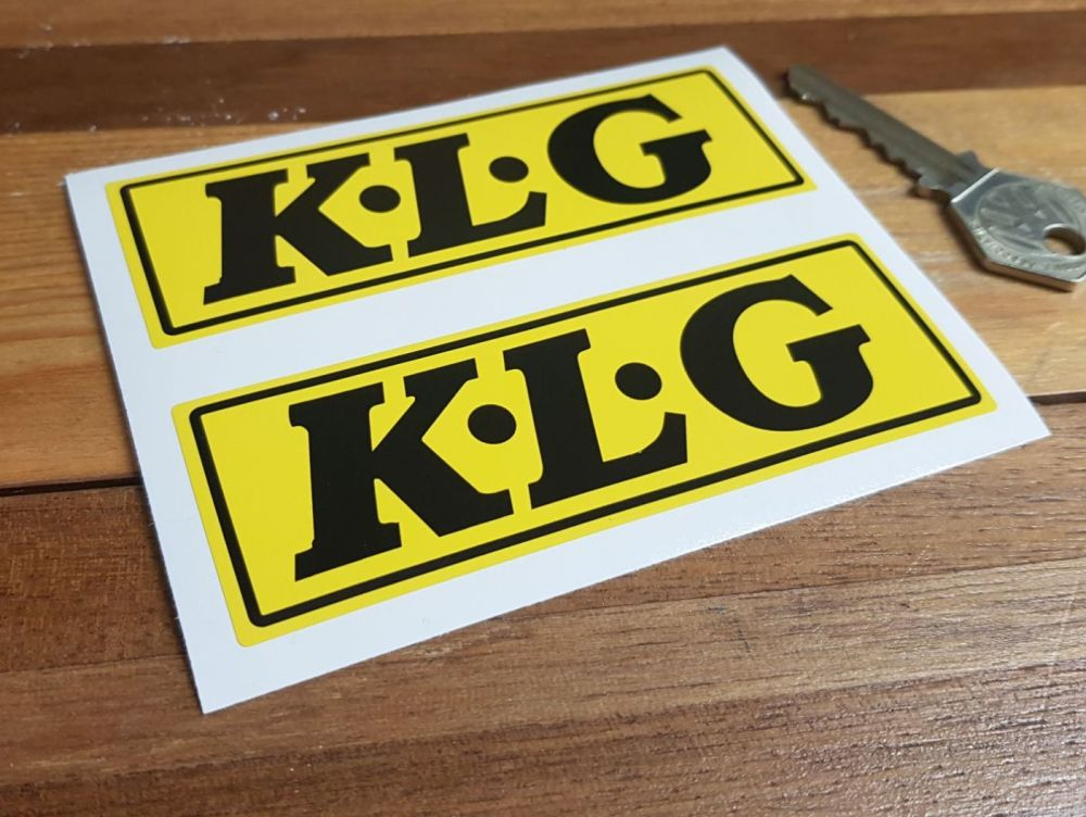 K.L.G Yellow & Black Oblong Stickers. 4