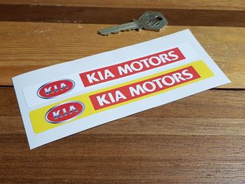 "Kia Motors Number Plate Dealer Logo Cover Stickers. 5.5"" Pair."