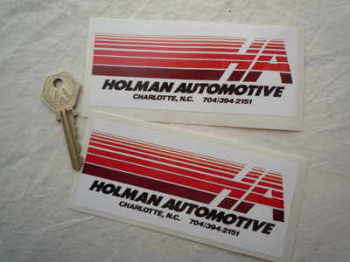 "Holman Automotive Oblong Stickers. 5"" Pair."