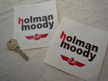 "Holman Moody Circular Stickers. 4"" Pair."