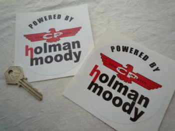 "Holman Moody Powered By Circular Stickers. 4"" Pair."