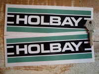 Holbay Striped Oblong Stickers. 7.75