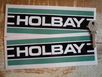 "Holbay Striped Oblong Stickers. 7.75"" Pair."