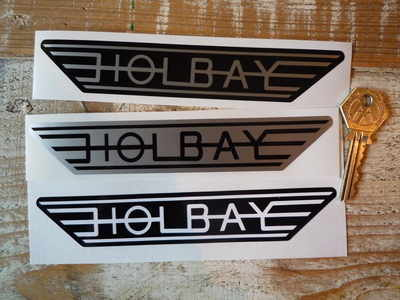 """Holbay Winged Stickers. 6.75"""" Pair."""