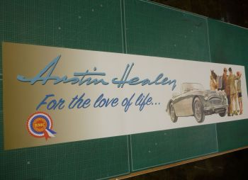 Austin Healey - For The Love of Life... Workshop Banner Art - 84""