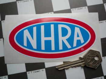 "NHRA Logo Oval Sticker. 5""."