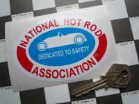 "NHRA Dedicated to Safety Oval Sticker. 4""."