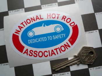 "NHRA Dedicated to Safety Oval Sticker. 4""."