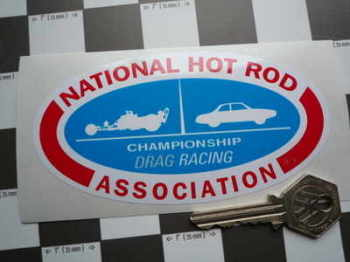 "NHRA Championship Drag Racing Sticker. 5""."