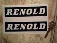 Renold Black & White Oblong Stickers. 6