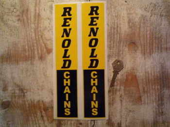 "Renold Chains Vertical Text Stickers. 10.25"" Pair."