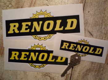 "Renold Chain & Gear Cut to Shape Stickers. 3"", 4"", 6"" or 7"" Pairs."