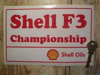 "Shell F3 Championship Sticker. 8""."