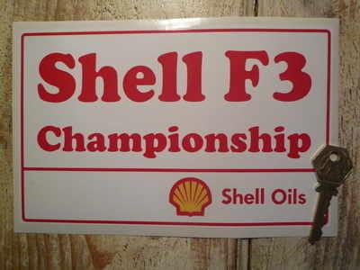 Shell F3 Championship Sticker. 8