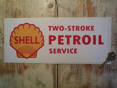 Shell Two-Stroke Petroil Service Sticker. 12