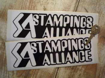 "Stampings Alliance Black & White Oblong Stickers. 9"" Pair."