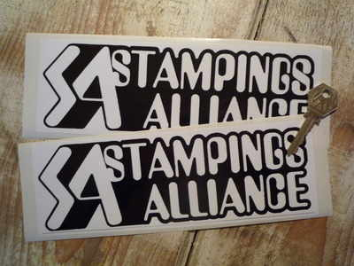 Stampings Alliance Black & White Oblong Stickers. 9