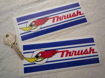 "Thrush Oblong Stickers. 6"" pair."
