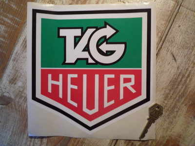 Tag Heuer Black Outline Full Colour Sticker. 8