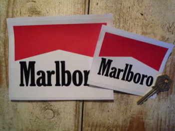 "Marlboro Logo Stickers. 3"", 4"" or 6"" Pair."