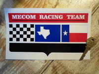 Mecom Racing Team Shaped Sticker. 8