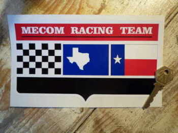 "Mecom Racing Team Shaped Sticker. 8""."