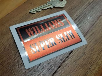 Williams Super Slim Spanners Red & Foil Sticker 3""