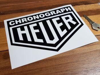 "Heuer Chronograph Cut Vinyl Negative Style Sticker - 7.5"""