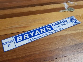 British Leyland Dealer Window Sticker - Bryans Garage Clacton on Sea - 9.75""
