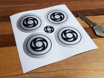 British Leyland Turbine Stickers - 45mm or 50mm - Set of 4