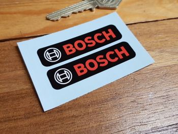 Bosch Text & Logo Oblong Stickers - Black - 60mm Pair