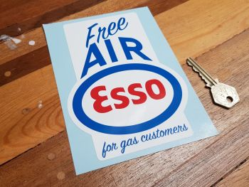 Esso Free Air for Gas Customers Sticker 6""