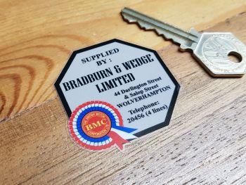 """BMC Dealer Window Sticker - Bradburn & Wedge Wolverhampton - 2"""""""
