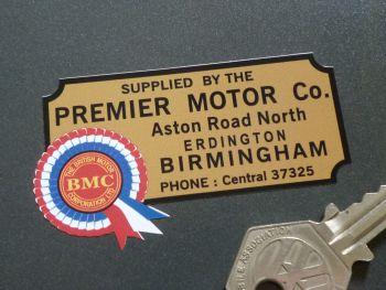 "BMC Dealer Sticker - Premier Motor Co. Birmingham - 2.5"""