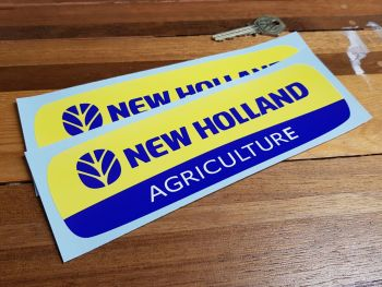 """New Holland Agriculture Stickers 8"""" Pair"""