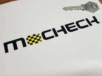 """Mocheck Check Style Yellow & Black Style 2 Stickers - 6"""" or 8"""" Pair"""