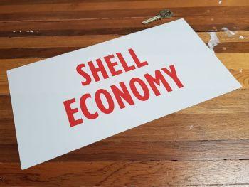 "Shell Economy Red & White Petrol Pump Window Face Stick Sticker 12.5"""