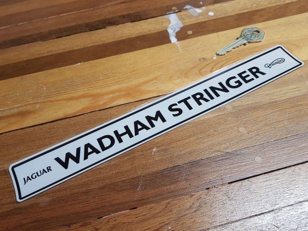 Jaguar Daimler Dealer Window Sticker - Wadham Stringer - 11.75