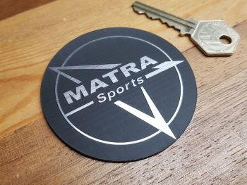 Matra Sports Circular Self Adhesive Car Badge 75mm