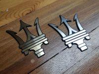 Maserati Trident Logo Self Adhesive Car Badges - Gold or Silver - 1.75