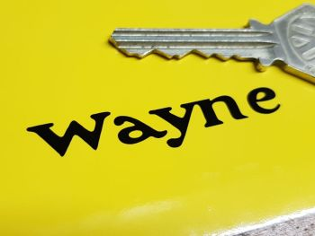 Wayne Pump Company Cut Vinyl Stickers 55mm Pair