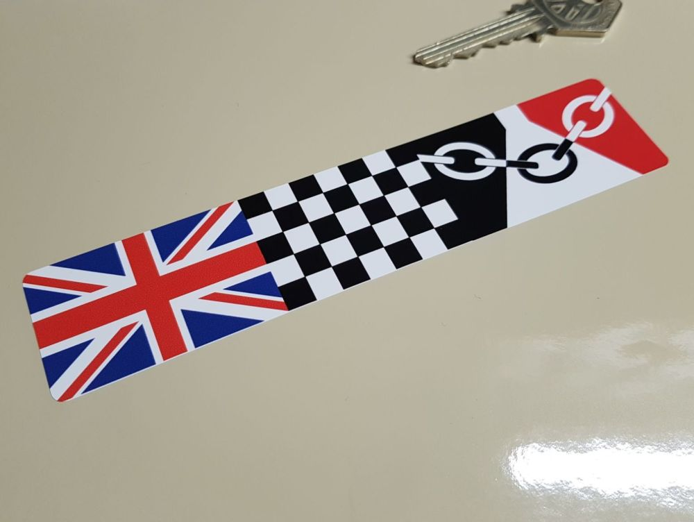 Combination Union Jack, Chequered, & Middlesex Flag Sticker 6