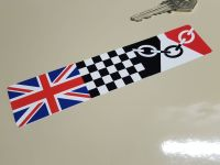 Combination Union Jack, Chequered, & Black Country Flag Sticker 6