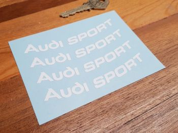 """Audi Sport Curved Cut Text Stickers - Set of 4 - 4"""""""