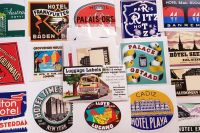 Vintage Style Travel Luggage Labels - Set 2 - Set of 15 Stickers