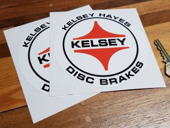 "Kelsey Hayes Disc Brakes Circular Stickers 5"" Pair"