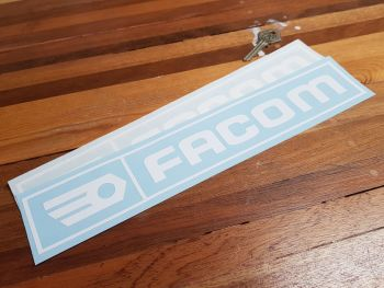 "Facom Cut Vinyl Stickers - Text & Logo - 12"" Pair"